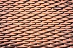 L'argilla del tetto piastrella il fondo Fotografia Stock Libera da Diritti