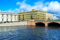 L'argine del fiume di Fontanka Immagine Stock