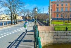 l'argine del fiume di Fontanka Fotografia Stock Libera da Diritti