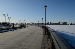 L'argine di Kazan in primavera fotografia stock
