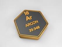 L'argon - AR - forme hexagonale de table périodique d'élément chimique Photos libres de droits