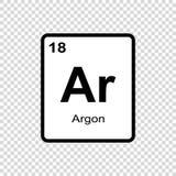 l'argon d'élément chimique illustration stock