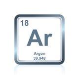 L'argon d'élément chimique du Tableau périodique Images libres de droits