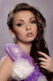 lång kvinna för elegantt trendigt hår royaltyfri fotografi