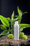 låter vara den kräm- framsidan för bambu fuktighetsbevarande hudkräm Royaltyfria Bilder