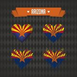 L'Arizona avec amour Le coeur brisé de vecteur de conception avec le drapeau à l'intérieur illustration stock