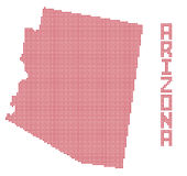 L'Arizona Dot Map Illustration Libre de Droits