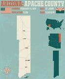 L'Arizona : Le comté d'Apache illustration stock
