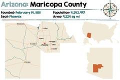 L'Arizona : Le comté de Maricopa illustration de vecteur