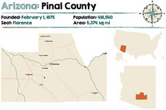 L'Arizona : Le comté de Pinal Photo stock