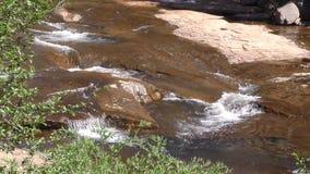 L'Arizona, roche de glissière, vue étroite d'A de l'eau entrant dans la crique de chêne près de la région de roche de glissière clips vidéos