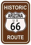 L'Arizona Route 66 historique Photo libre de droits