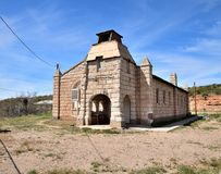 L'Arizona, San Carlos Apache Reservation : Église indépendante d'Apache photos stock
