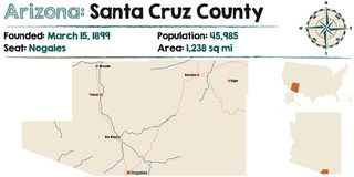 L'Arizona : Santa Cruz County illustration libre de droits
