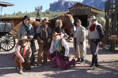 L'Arizona, U.S.A.: Vecchio ovest - attori in attrezzature tradizionali Immagine Stock