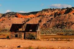L'Arizona une ruine d'une carlingue de rondin historique photo libre de droits