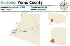 L'Arizona : Yuma County illustration de vecteur