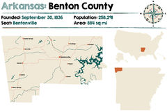 L'Arkansas : Benton County Photographie stock