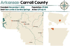 L'Arkansas : Carroll County Images stock