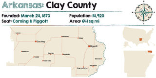 L'Arkansas : Clay County Photographie stock