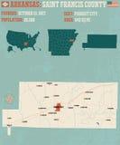 L'Arkansas : Comté de St Francis Image stock