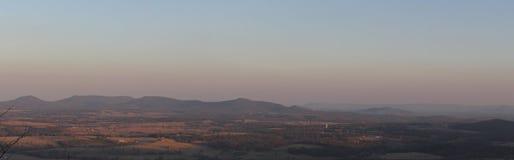 L'Arkansas donnent sur le coucher du soleil Photographie stock