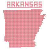 L'Arkansas Dot Map Photo stock