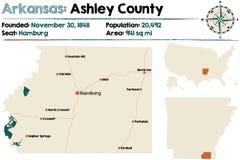 L'Arkansas : Le comté d'Ashley Photo stock