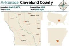L'Arkansas : Le comté de Cleveland Image libre de droits