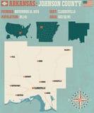 L'Arkansas : Le comté de Johnson Photographie stock libre de droits