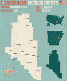 L'Arkansas : Le comté de Monroe Images libres de droits