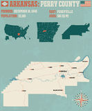L'Arkansas : Le comté de Perry Images stock