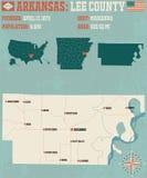 L'Arkansas : Lee County Images libres de droits