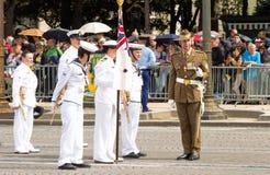 L'armée australienne participent au défilé militaire de jour de bastille, Photographie stock libre de droits