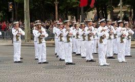 L'armée australienne participent au défilé militaire de jour de bastille, Photographie stock