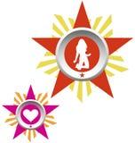 l'armée badges la série d'amour Illustration Stock