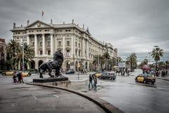 L'armée de Barcelone siège le bâtiment Barcelone, Espagne Image stock