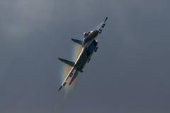 L'Armée de l'Air ukrainienne SU-27 Flanker à l'air international royal Photos libres de droits