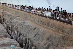 L'armée de terre cuite de Xian Images libres de droits