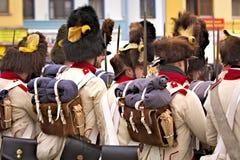 L'armée du napoléon de défilé dans Vyskov - détail d'équipement Photo libre de droits