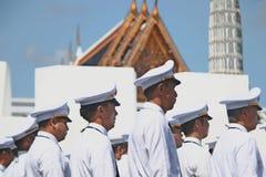 L'armée thaïlandaise royale à se préparer à assistent à l'enterrement du Roi Bhumibol Adulyadej King Rama 9 Images stock