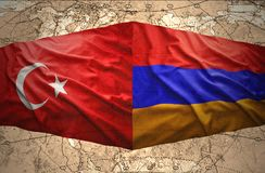 L'Arménie et la Turquie Photographie stock