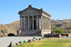 L'Arménie, temple de Sun de païen chez Garni, siècle d'I photographie stock