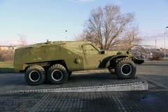 l'arménie yerevan Les objets exposés du musée de la défense de ministère BTR-40 Photo stock