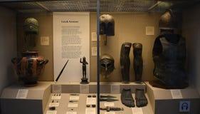 L'armatura dei gladiatori fotografia stock