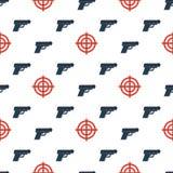 L'arme à feu vise pattern2 sans couture photo stock