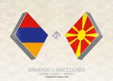 L'Armenia contro la Macedonia, lega D, gruppo 4 Competi di calcio di Europa illustrazione vettoriale