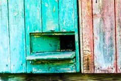 L'arnia di legno Fotografia Stock