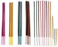 L'aromathérapie de bâtons d'encens et le bâton creusé exaspéré groupe et choisit Images stock