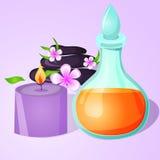 L'arome huile l'illustration de vecteur de station thermale Photo stock